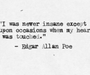 black and white, edgar allan poe, and heart image