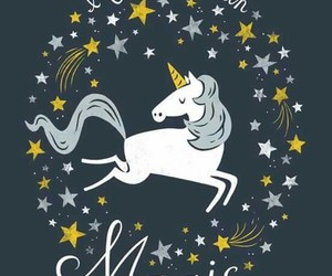 unicorn, magic, and stars image