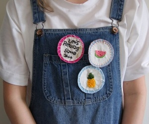 aesthetic, denim, and pins image