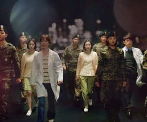 soldier, k-drama, and descendants of the sun image