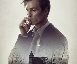 true detective, matthew mcconaughey, and rust cohle image