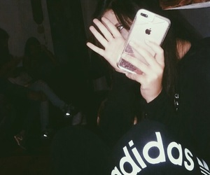 adidas, black, and dark image