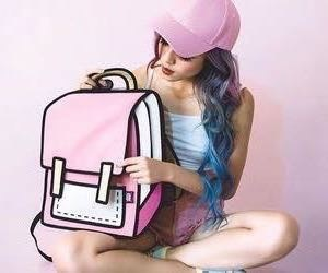 backpack, cool, and girl image