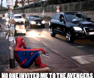 spiderman, Avengers, and funny image