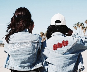 girl, california, and denim image