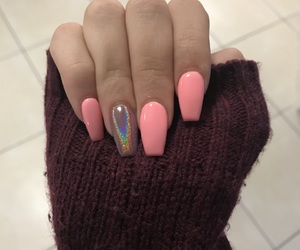 acrylic, holographic, and nails image