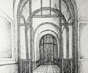 architecture, art, and corridor image