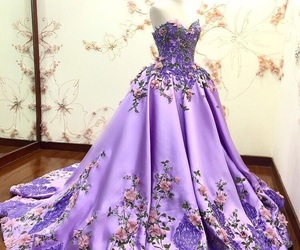dress, princess, and purple image