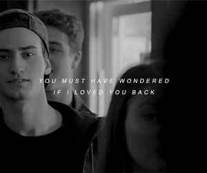 black and white, skam, and words image