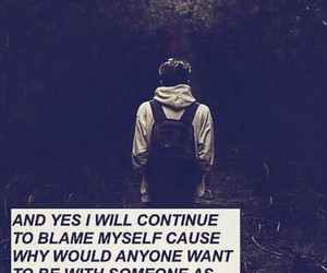 grunge, sad, and quote image