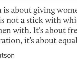 emma watson, empowerment, and feminism image