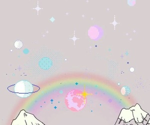 wallpaper, rainbow, and background image