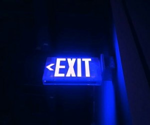 alternative, blue, and exit image