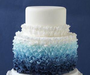 cake, blue, and white image