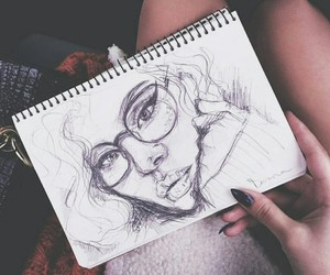 art, girl, and arte image