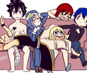 anime, Lucy, and jellal image