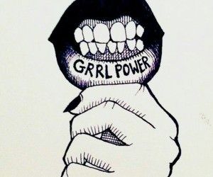 girl power, power, and lips image