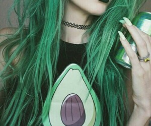 green, hair, and tumblr image