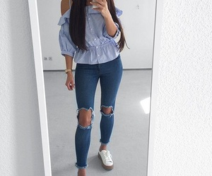 outfit, haïr, and clothes image