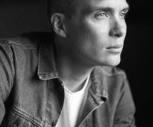 black and white and cillian murphy image