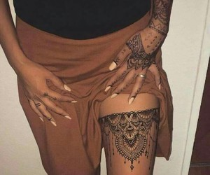 henna, tatouage, and henné image