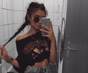 girl, braid, and style image