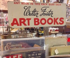 book, art, and vintage image