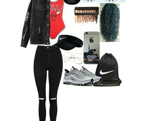 chicago bulls, fashions, and Polyvore image