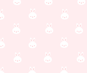 bunny, kawaii, and pattern image