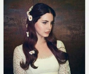 lana del rey, flowers, and music image