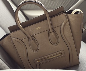 bag, beautiful, and beige image