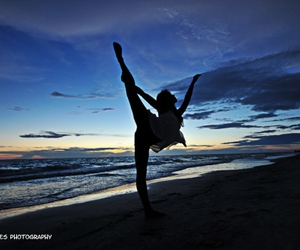 beach, photography, and dance image