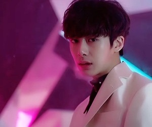 kpop, neon, and hyungwon image