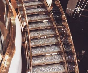 luxury, gold, and stairs image