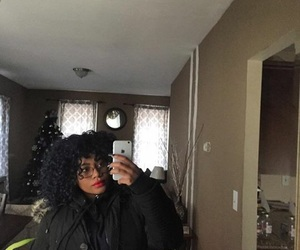 beauty, phone, and curls image