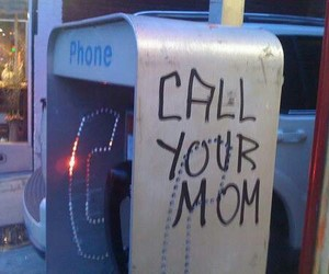 grunge, mom, and phone image