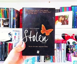 book, bookshelf, and stolen image
