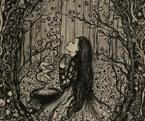 witch, wicca, and art image