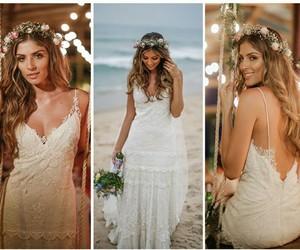 casamento, praia, and renda image