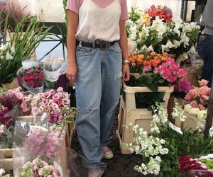 flowers, aesthetic, and outfit image