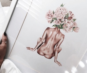 art, beauty, and bouquet image