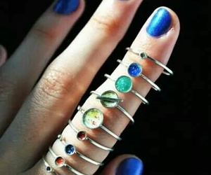 jewelry, rings, and planets image