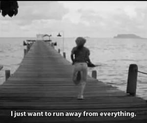 sad, alone, and run image