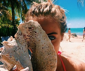 beaches, fashion, and summer image