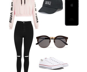 converse, fashion, and hat image