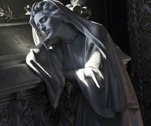 cemetery, sculpture, and statue image