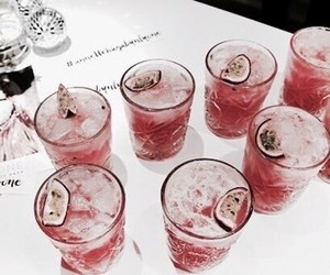 drink, food, and rose gold image