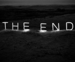 the end, black, and end image