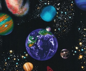 planet, space, and stars image
