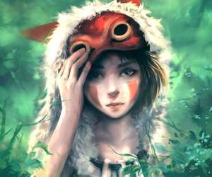 studio ghibli and princesesa mononoke image